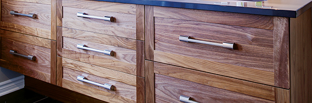 Soft close hardware on all cabinet drawers