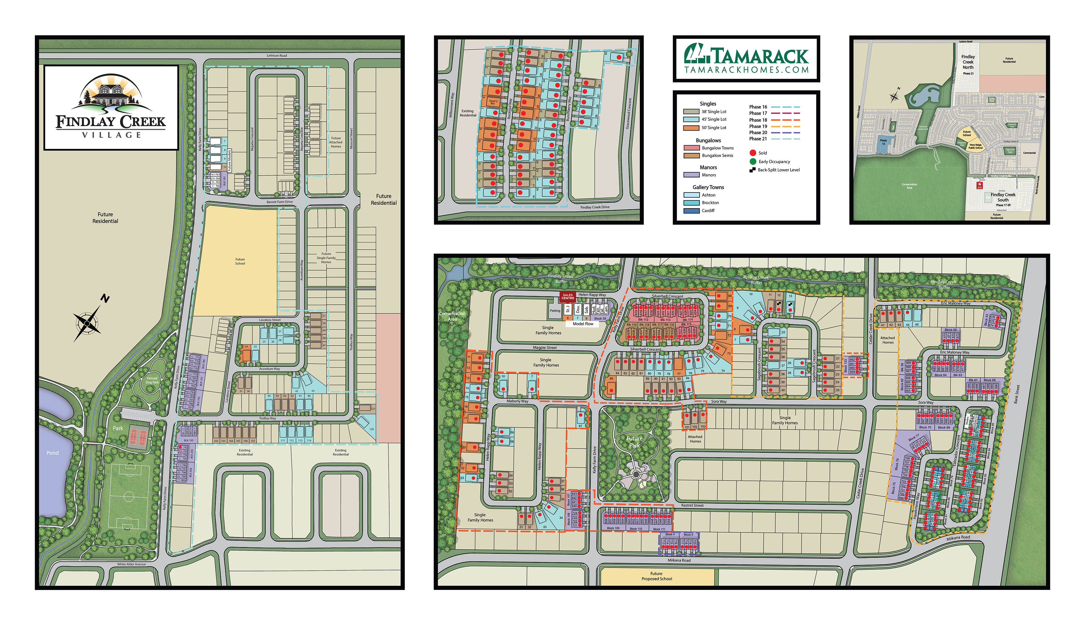 Large Full Color Sitemap of Findlay Creek Village