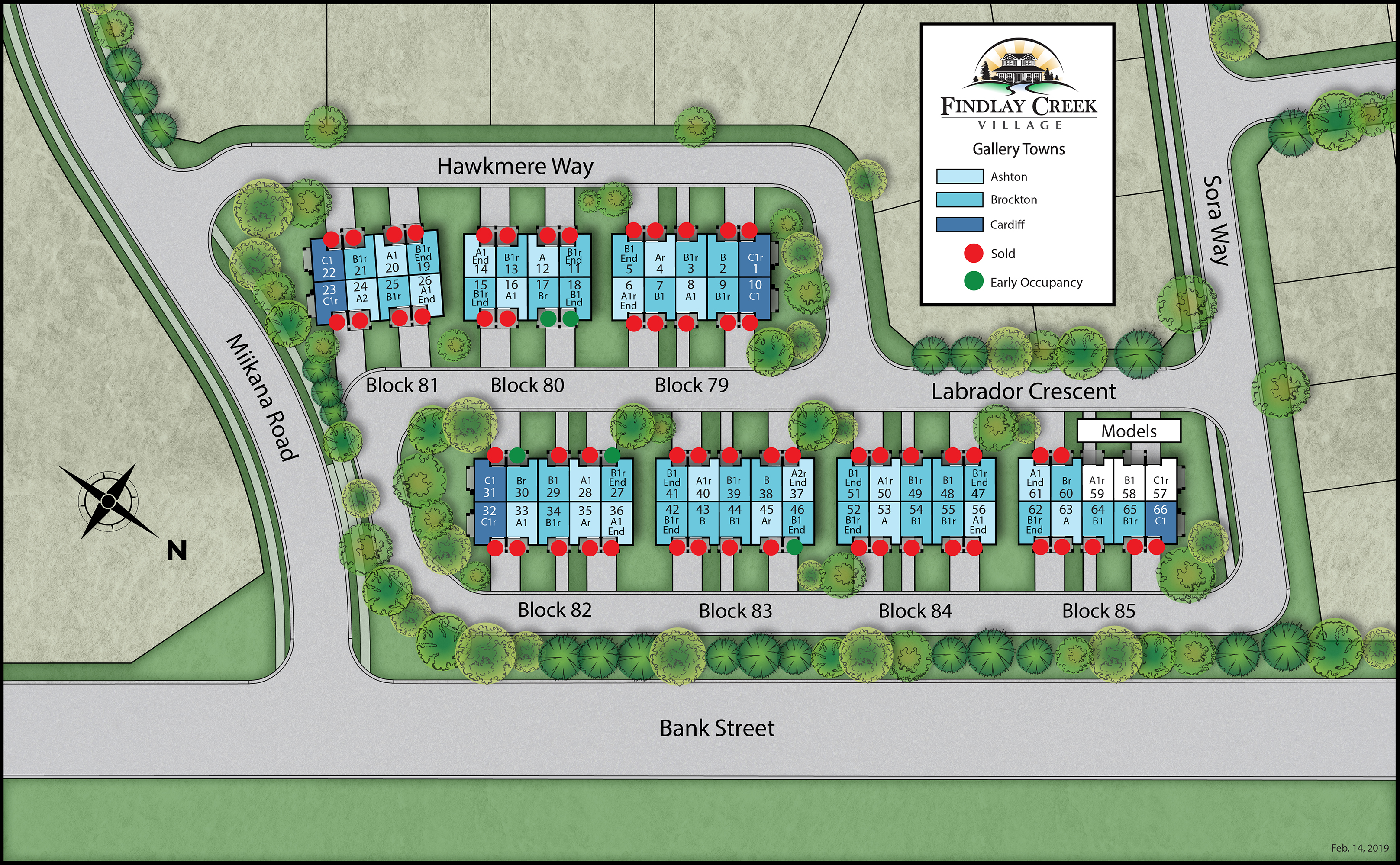 Large Full Color Sitemap of Gallery Townhomes
