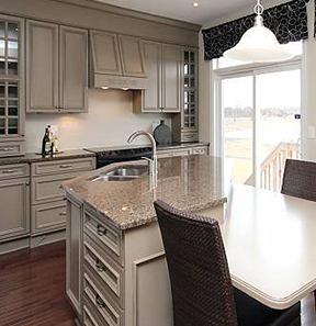 Beautiful Kitchen inside a Woodhaven Model Home