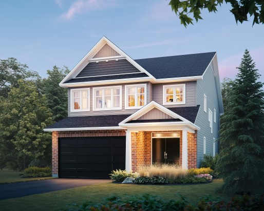 Devon Elevation A  by Tamarack Homes