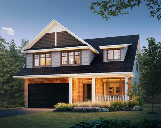 Lancaster Elevation A Single Family Home by Tamarack Homes