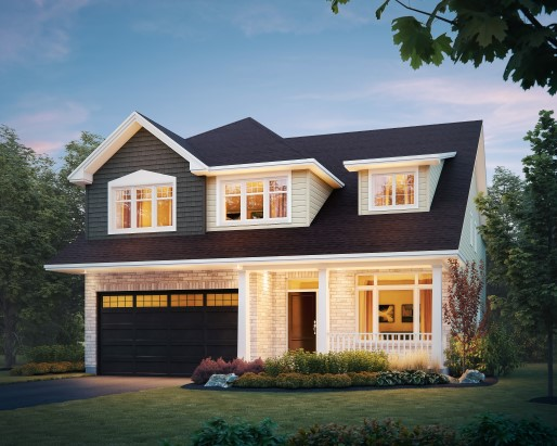 Lancaster Elevation Single Family Home by Tamarack Homes