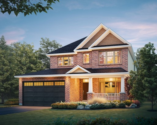 Tamarack Riverview Dover Single Family Home Elevation