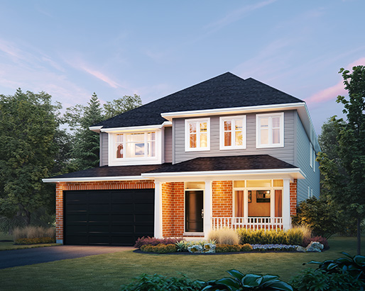 Oxford Elevation A  by Tamarack Homes