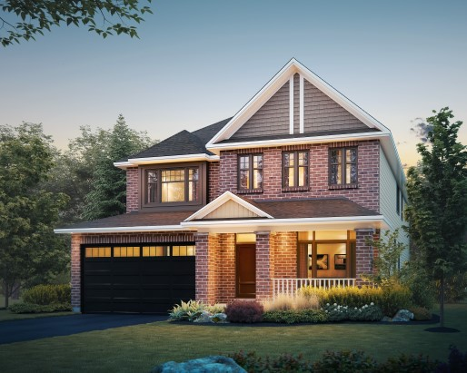 Tamarack Riverview Oxford Single Family Home Elevation