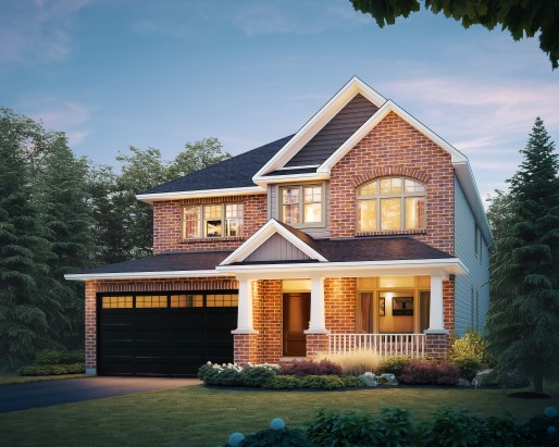 Oxford Elevation D  by Tamarack Homes