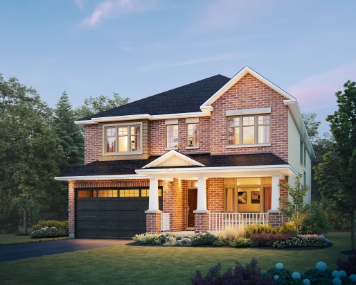 Regent Elevation B  by Tamarack Homes