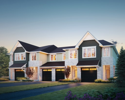 Eton Elevation Townhome by Tamarack Homes