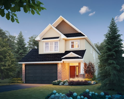 Tamarack Riverview Windsor Single Family Home Elevation